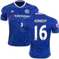 Adult Men's 16/17 Chelsea #16 Kenedy Authentic Blue Home Jersey - 2016/17 Premier League Soccer Shirt