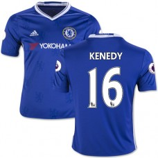 Kid's 16/17 Chelsea #16 Kenedy Authentic Blue Home Jersey - 2016/17 Premier League Soccer Shirt