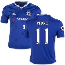 Kid's 16/17 Chelsea #11 Pedro Authentic Blue Home Jersey - 2016/17 Premier League Soccer Shirt