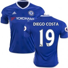 Adult Men's 16/17 Chelsea #19 Diego Costa Authentic Blue Home Jersey - 2016/17 Premier League Soccer Shirt