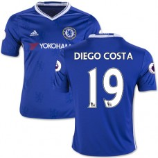 Kid's 16/17 Chelsea #19 Diego Costa Blue Home Replica Jersey - 2016/17 Premier League Soccer Shirt