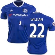 Adult Men's 16/17 Chelsea #22 Willian Authentic Blue Home Jersey - 2016/17 Premier League Soccer Shirt