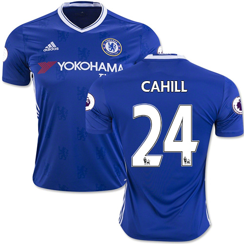 Adult Men's 16/17 Chelsea #24 Gary Cahill Authentic Blue Home Jersey - 2016  ...