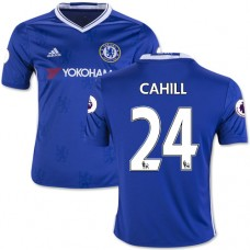 Kid's 16/17 Chelsea #24 Gary Cahill Authentic Blue Home Jersey - 2016/17 Premier League Soccer Shirt