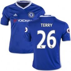 Kid's 16/17 Chelsea #26 John Terry Authentic Blue Home Jersey - 2016/17 Premier League Soccer Shirt