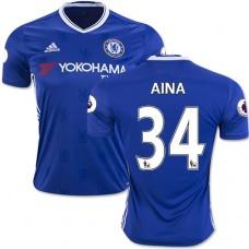 Adult Men's 16/17 Chelsea #34 Ola Aina Blue Home Replica Jersey - 2016/17 Premier League Soccer Shirt