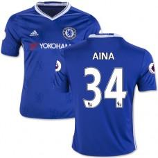 Kid's 16/17 Chelsea #34 Ola Aina Authentic Blue Home Jersey - 2016/17 Premier League Soccer Shirt