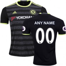 Adult Men's Customized 2016/17 Chelsea Black  Away Authentic Jersey