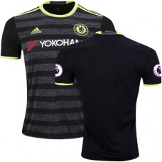 Adult Men's 16/17 Chelsea Blank Authentic Black Away Jersey - 2016/17 Premier League Soccer Shirt