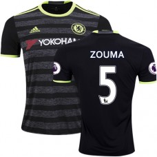 Adult Men's 16/17 Chelsea #5 Kurt Zouma Authentic Black Away Jersey - 2016/17 Premier League Soccer Shirt