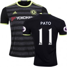 Adult Men's 16/17 Chelsea #11 Alexandre Pato Authentic Black Away Jersey - 2016/17 Premier League Soccer Shirt