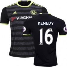 Adult Men's 16/17 Chelsea #16 Kenedy Black Away Replica Jersey - 2016/17 Premier League Soccer Shirt