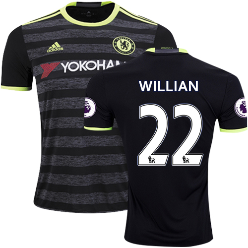 the best attitude 358d0 546e9 Adult Men's 16/17 Chelsea #22 Willian Authentic Black Away ...