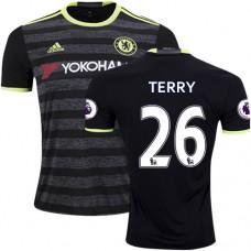 Adult Men's 16/17 Chelsea #26 John Terry Authentic Black Away Jersey - 2016/17 Premier League Soccer Shirt