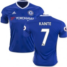 Adult Men's 16/17 Chelsea #7 N'Golo Kante Authentic Blue Home Jersey - 2016/17 Premier League Soccer Shirt