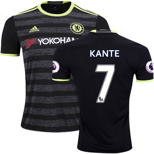 new arrival 60187 fb9db Adult Men's 16/17 Chelsea #7 N'Golo Kante Authentic Black ...