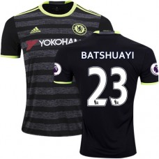 Adult Men's 16/17 Chelsea #23 Michy Batshuayi Authentic Black Away Jersey - 2016/17 Premier League Soccer Shirt