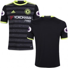 Kid's 16/17 Chelsea Blank Authentic Black Away Jersey - 2016/17 Premier League Soccer Shirt