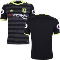 Kid's 16/17 Chelsea Blank Black Away Replica Jersey - 2016/17 Premier League Soccer Shirt
