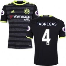 Kid's 16/17 Chelsea #4 Cesc Fabregas Authentic Black Away Jersey - 2016/17 Premier League Soccer Shirt