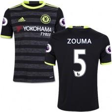 Kid's 16/17 Chelsea #5 Kurt Zouma Authentic Black Away Jersey - 2016/17 Premier League Soccer Shirt