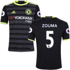 Kid's 16/17 Chelsea #5 Kurt Zouma Black Away Replica Jersey - 2016/17 Premier League Soccer Shirt