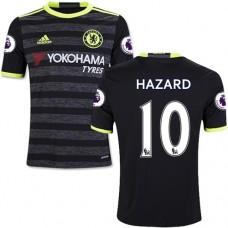 Kid's 16/17 Chelsea #10 Eden Hazard Authentic Black Away Jersey - 2016/17 Premier League Soccer Shirt