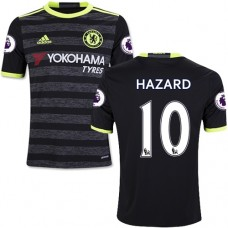 Kid's 16/17 Chelsea #10 Eden Hazard Black Away Replica Jersey - 2016/17 Premier League Soccer Shirt