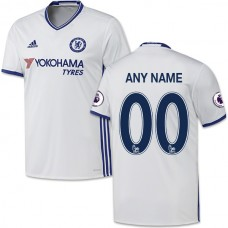 Adult Men's Customized 2016/17 Chelsea White  Third Authentic Jersey