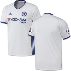 Adult Men's 16/17 Chelsea Blank Authentic White Third Jersey - 2016/17 Premier League Soccer Shirt