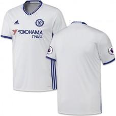 Adult Men's 16/17 Chelsea Blank Authentic White Third Jersey - 2016/17 Premier League Soccer Shirt