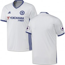 Adult Men's 16/17 Chelsea Blank White Third Replica Jersey - 2016/17 Premier League Soccer Shirt