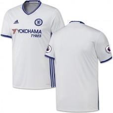 Adult Men's 16/17 Chelsea Blank White Third Replica Jersey - 2016/17 Premier League Soccer Shirt
