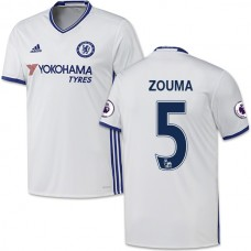 Adult Men's 16/17 Chelsea #5 Kurt Zouma Authentic White Third Jersey - 2016/17 Premier League Soccer Shirt