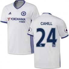 Adult Men's 16/17 Chelsea #24 Gary Cahill White Third Replica Jersey - 2016/17 Premier League Soccer Shirt