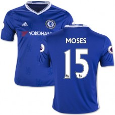 Kid's 16/17 Chelsea #15 Victor Moses Authentic Blue Home Jersey - 2016/17 Premier League Soccer Shirt