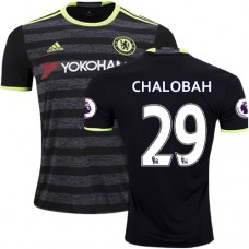 Adult Men's 16/17 Chelsea #29 Nathaniel Chalobah Authentic Black Away Jersey - 2016/17 Premier League Soccer Shirt