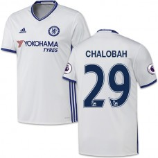 Adult Men's 16/17 Chelsea #29 Nathaniel Chalobah Authentic White Third Jersey - 2016/17 Premier League Soccer Shirt