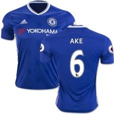 Adult Men's 16/17 Chelsea Nathan Ake Authentic Blue Home Jersey - 2016/17 Premier League Soccer Shirt