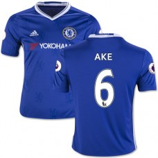 Kid's 16/17 Chelsea Nathan Ake Authentic Blue Home Jersey - 2016/17 Premier League Soccer Shirt
