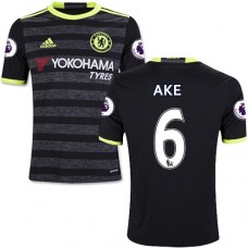 Kid's 16/17 Chelsea Nathan Ake Authentic Black Away Jersey - 2016/17 Premier League Soccer Shirt