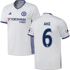 Adult Men's 16/17 Chelsea Nathan Ake White Third Replica Jersey - 2016/17 Premier League Soccer Shirt