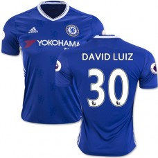 Adult Men's 16/17 Chelsea David Luiz Authentic Blue Home Jersey - 2016/17 Premier League Soccer Shirt