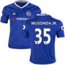 Kid's 16/17 Chelsea Charly Musonda Authentic Blue Home Jersey - 2016/17 Premier League Soccer Shirt