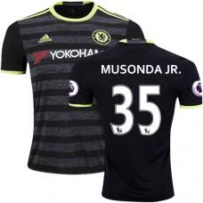 Adult Men's 16/17 Chelsea Charly Musonda Authentic Black Away Jersey - 2016/17 Premier League Soccer Shirt