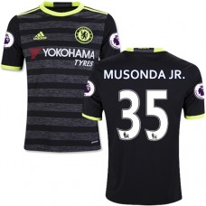 Kid's 16/17 Chelsea Charly Musonda Black Away Replica Jersey - 2016/17 Premier League Soccer Shirt