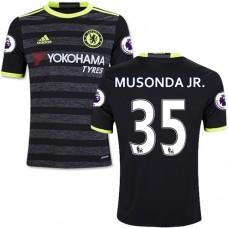 Kid's 16/17 Chelsea Charly Musonda Black Away Replica Jersey - 2016/17 Premier League Soccer Shirt