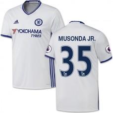 Adult Men's 16/17 Chelsea Charly Musonda Authentic White Third Jersey - 2016/17 Premier League Soccer Shirt