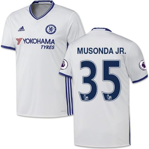 Adult Men's 16/17 Chelsea Charly Musonda White Third Replica Jersey - 2016/17 Premier League Soccer Shirt