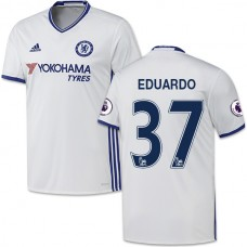 Adult Men's 16/17 Chelsea Eduardo White Third Replica Jersey - 2016/17 Premier League Soccer Shirt
